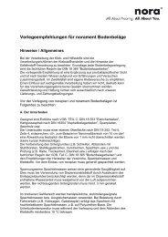 Verlegeempfehlungen für norament Bodenbeläge