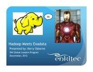 Hadoop Meets Exadata