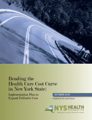 Bending the Health Care Cost Curve in New York State