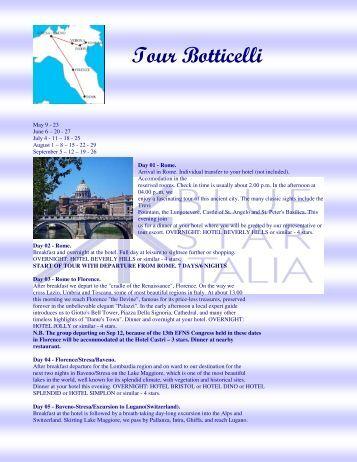 Tour Botticelli - Blue Star Italia