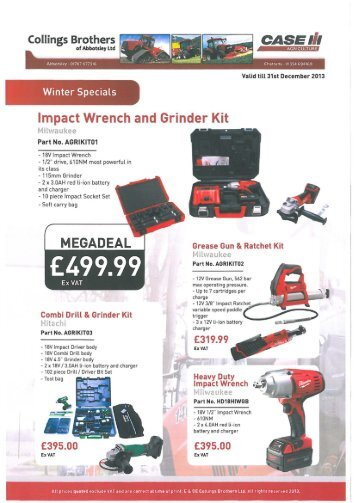 Impact Wrench and Grinder Kit
