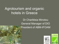 Agrotourism and organic hotels in Greece - ifoam