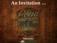 An Invitation …