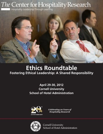 Ethics Roundtable Program - Cornell School of Hotel Administration ...