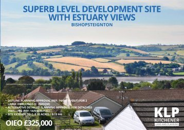 Superb Level Development Site with Estuary Views, Bishopsteignton, Devon