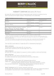 WARRANTY CONDITIONS (BerryAlloc DPL floors)