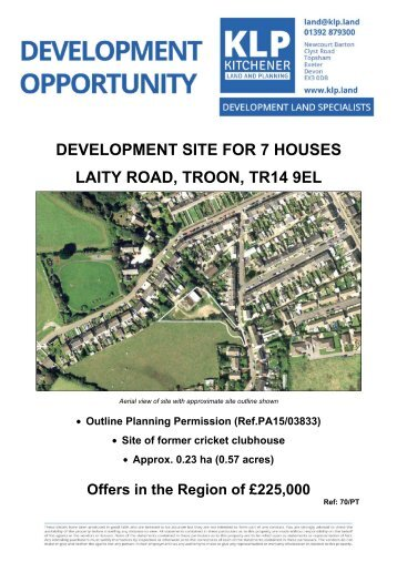 Development Site for 7 Houses, Troon, Cornwall