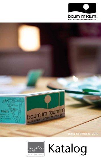 Katalog | baum im raum – Natürliche Wohnkonzepte