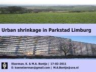 Urban shrinkage in Parkstad Limburg