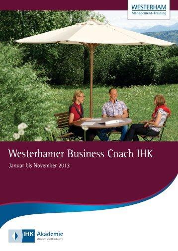 Hier Westerhamer steht die Business Bezeichnung Coach IHK