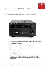 Produktinformation NAD C 715 / NAD C 715 DAB