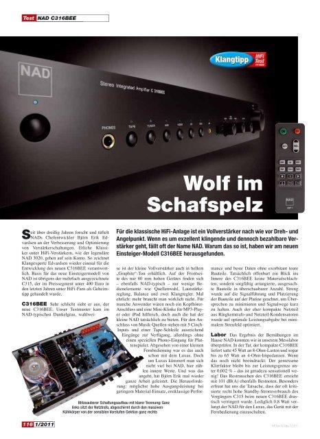 Wolf im Schafspelz - NAD