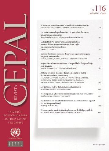 Revista CEPAL Nº116
