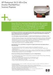 HP Photosmart 2610 All-in-One Drucker/Flachbett-Fax/ Scanner ...