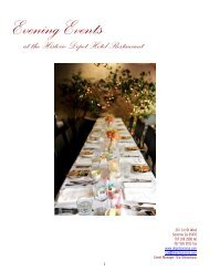 Evening Events at the Historic Depot Hotel Restaurant