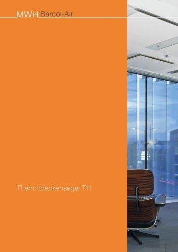 Thermodeckensegel T11 - MWH - Barcol-Air