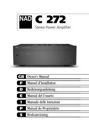 C272 manual.qxd - NAD
