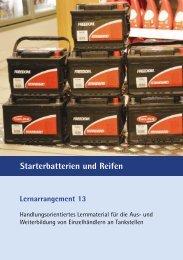 Lernarrangement 13 Starterbatterien und Reifen - MWV