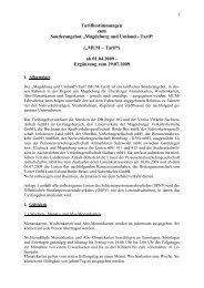 Geltungsbereich MUM-Tarif, Linienverzeichnis - Nasa