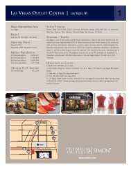 Las Vegas Outlet Center - Simon Malls