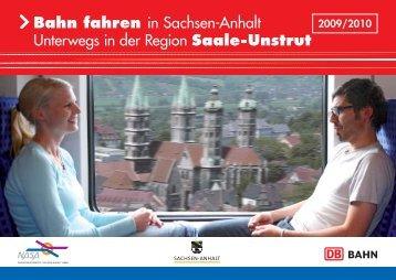 Bahn fahren in Sachsen-Anhalt Unterwegs in der Region Saale - Nasa