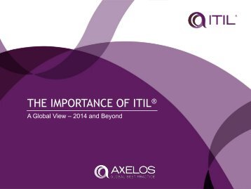 THE IMPORTANCE OF ITIL