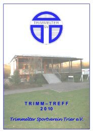 T R I M M – T R E F F 2 0 10 - Trimmelter Sportverein