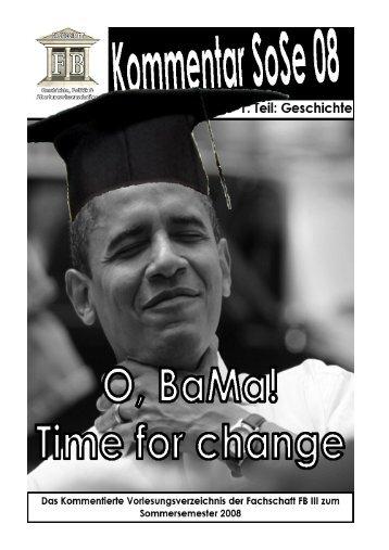 Sommersemester 2008 - Homepage des Fachs Geschichte der ...