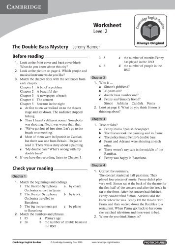 Worksheet - Cambridge University Press