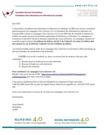 Une lettre à l'intention de tous les membres de l'ACIIS et de La ...