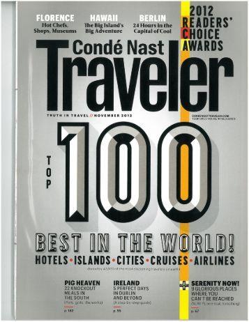 Conde Nast | Top 100 Best - Graves 601 Hotel