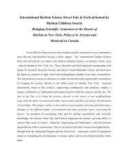 Post Event Press Release - Harlem Children Society
