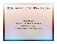 Myth Busters :Cryptid DNA Analysis