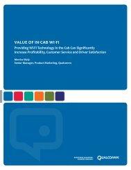Value of in-cab wi-fi