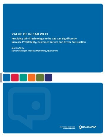 Value of in-cab wi-fi