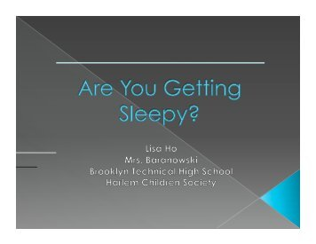 Sleep deprivation Learning Sleep fragmentation Attentiveness