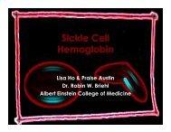 Sickle Cell Hemoglobin