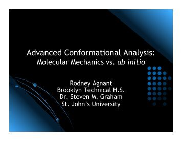 Advanced Conformational Analysis