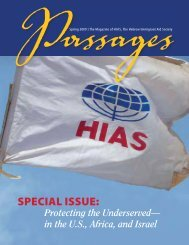 SPECIAL ISSUE: - Hebrew Immigrant Aid Society