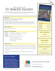 DUE SOUTH - St Simons Island Visitor and Travel Guide