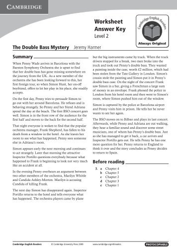 The Double Bass Mystery - Cambridge University Press