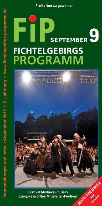 Fichtelgebirgs-Programm - September 2015