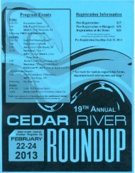 Cedar River Roundup Flyer
