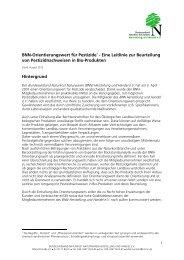 BNN-Orientierungswert für Pestizide1 - Eine Leitlinie zur Beurteilung ...