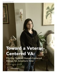 Toward a Veteran- Centered VA