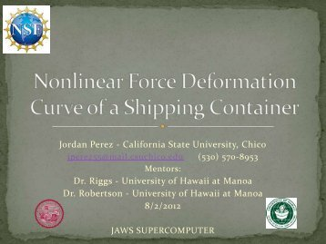 Jordan Perez Final Presentation - University of Hawaii