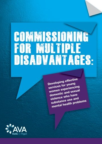 Commissioning for multiple disadvantages: - AVA