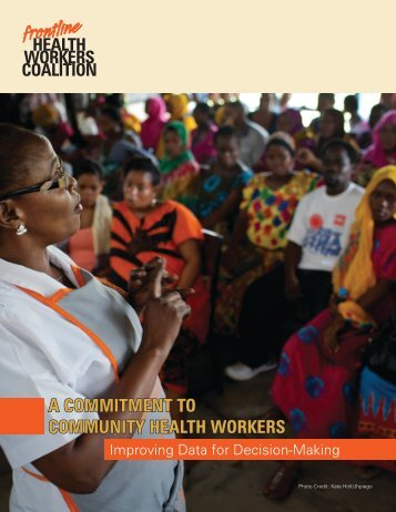 A Commitment to Community Health Workers