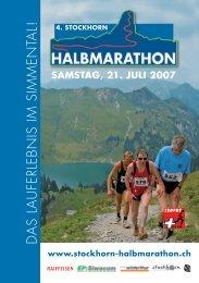 DAS LAUFERLEBNIS IM SIMMENTAL! - Stockhorn-Halbmarathon