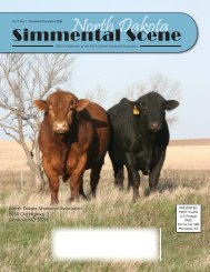 NDSS - November/December 2006 - North Dakota Simmental ...